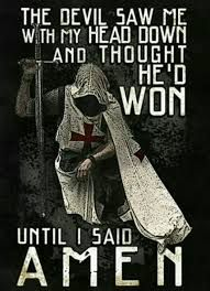 Image result for knight templar kneeling and saying amen t shirt