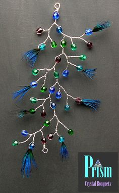 Peacock Inspired Hair Vine by PrismBouquets on Etsy, $14.00