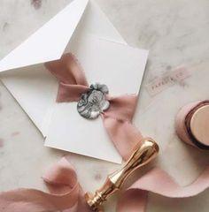 Super Ideas For Diy Wedding Invitations Wax Seal Wedding Paper, Wedding Cards, Diy Wedding, Wedding Gifts, Trendy Wedding, Wedding Ideas, Ribbon Wedding, Wedding Wishes, Wedding Reception