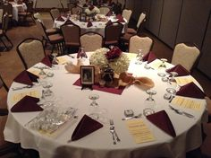 Wedding Dinner Table Setting at The Gathering Place