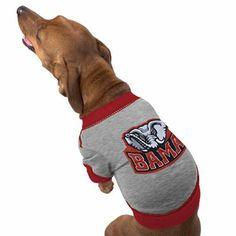 alabama football clothes for dogs   Alabama Crimson Tide Grey Collegiate Dog T-shirt