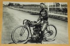 HARLEY-DAVIDSON-Track-Racer-Jim-Davis-1900s-Motorcycle-HD-Vintage-Photo-Pic-631