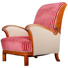 Art Deco Lounge Chair, 1930s, Swedish | From a unique collection of antique and modern lounge chairs at https://www.1stdibs.com/furniture/seating/lounge-chairs/
