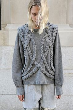maybe embellish a preexisting sweater?