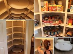 Organize Your Pantry: DIY Lazy Susan Pantry  Materials Needed:  wooden discs standard dividers screw turntable swivels swivel posts tall dividers Base-length B Base length A