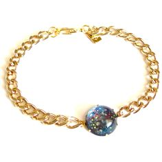 Glass Galaxy Bracelet. Speaks to my fascination with the skies.