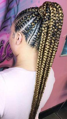 Braided Ponytail Ponytail Hairstyles Braided Hairstyles Braids Fishtail Braids Pigtail African ponytail hairstyles African American Hairstyles Black women hairstyles natural hairstyles easy hairstyles new hairstyles women's hairstyles Feed In Braids Ponytail, French Braid Ponytail, Braided Ponytail Hairstyles, Braided Hairstyles For Black Women, African Braids Hairstyles, Fishtail Braids, Braided Mohawk, Updo Hairstyle, Side Ponytails
