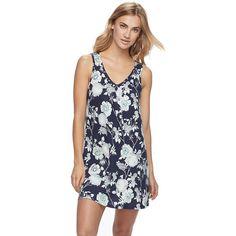 Women's Apt. 9® Pajamas: Lace Back Chemise, Blue