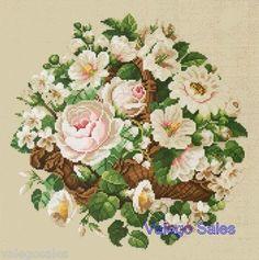 Ellen Maurer-Stroh Counted #crossstitch  Basket For Mom #chart #pattern #DIY #crafts #decor #needlework #crossstitching #gift #flowers