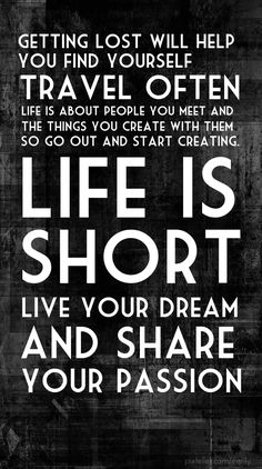 Live your dream and share your passion! - Created with PixTeller