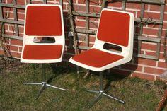Vintage Stühle - Design 70er Stühle Drehstuhl Schalenstühle Retro - ein Designerstück von Landmum bei DaWanda