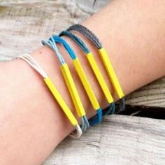 Make cute stackable bracelets with this easy tutorial