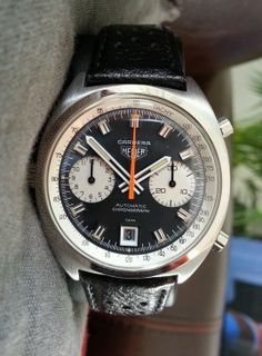 HEUER.vintage .carrera chronograph Cal 12 automatic