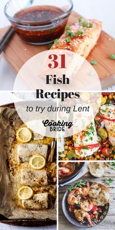 Need a few new ideas for fish recipes for Lent? These 31 delicious pescatarian dishes range from fried to baked and everything in between. Catfish Recipes, Meat Recipes, Seafood Recipes, Vegetarian Recipes, Recipes For Lent, Seafood Dinner, Fish And Seafood, Lemon Baked Cod, Southern Fried Catfish