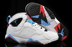 7936683f743 Air Jordan VII Retro 'Orion Blue' White Orion Blue-Black-Infrared For Sale,  The sneaker is on the top of many enthusiast's list and features a white  leather ...