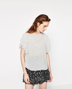 STAR PRINT TOP-View all-TOPS-WOMAN | ZARA United States