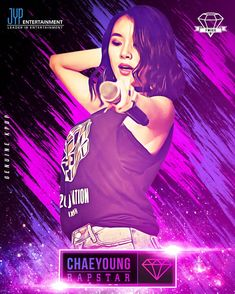 Chaeyoung Rapstar-Digital Art Poster #chaeyoung #kpopf4f #kpopfff #kpopl4l #gorgeous #pretty #beautiful #twice #jyp #lovely #like4like #photo #girl #kpop #photooftheday #pink #singer #swag #amazing #cool #purple #galaxy #poster #rap #look #cute #lens #awesome #light #neon