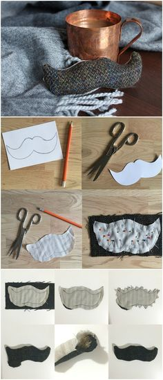 ▷ original ideas to choose a gift for her bo - Saint Valentin Moustache, Diy Cadeau, Hand Warmers, Boyfriend Gifts, Sewing Tutorials, Gifts For Her, Projects To Try, Tote Bag, Ideas