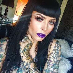 """#motd  @nerocosmetics in ""bastet"" on my lips @stilacosmetics all day wear foundation in ""bare1"" @anastasiabeverlyhills cream contour in ""light""…"""