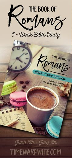 Exciting announcement! We've just come out with our new Bible Study on Romans. You can find all the info on our website, Timewarpwife.com.