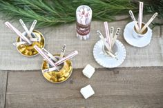stirrers, holiday party ideas, beautiful christmas tablesettings, diy stirrers