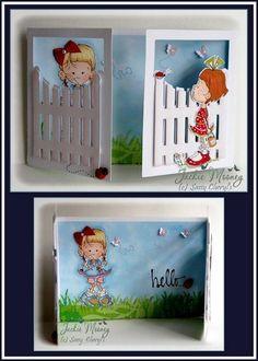 Awww so cute. Tri Fold Cards, Folded Cards, Cricut Cards, Stampin Up Cards, Pop Up Cards, Cool Cards, Baby Cards, Kids Cards, Card Tags