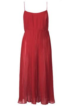 Coveting this pleated slip dress.