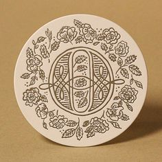 Love Letters letterpress coaster by Dana Tanamachi, benefitting the Hamilton Type & Print Museum