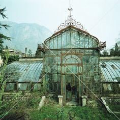 Verfallenes viktorianisches Glashaus