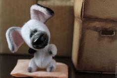 Mini Teddy toy dog /Миниатюрная тедди игрушка Собака — работа дня на Ярмарке Мастеров. Узнать цену и купить: http://www.livemaster.ru/sol-73   #cute #sweet #handmade #teddy #toy #dog #ooak #livemaster #ярмаркамастеров #ручнаяработа #творчество #хендмейд #игрушка #тедди #песик