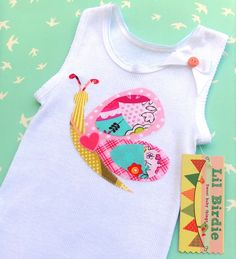 Baby Tank Baby Singlet Butterfly Applique Baby by LilBirdieShop, $18.00