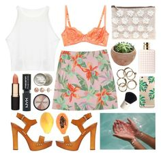 """""""Persian flowers"""" by sophiehackett ❤ liked on Polyvore featuring Deborah Marquit, FRUIT, Valentino, Dsquared2, ASOS, Mimco, Topshop, Paul & Joe, H&M and Smashbox"""