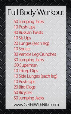 Fitness Friday} Full Body Workout - Get Fit With Nikki
