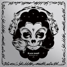 BLACK SHEEP - Anthorogy | LP Cover, Illustration and Design, Silver and Black print, 2014 #usugrow