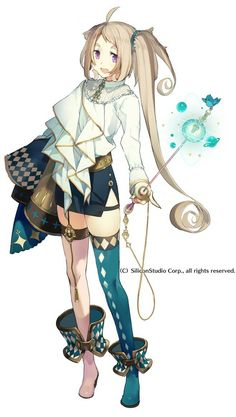 Cute anime girl for rpg inspiration character. I love her design.maybe it's perfect for a magician? Manga Anime, Manga Girl, Fanarts Anime, Anime Art, Anime Girls, Character Design Cartoon, Character Design References, Character Design Inspiration, Fantasy Characters