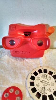 Vintage View Master Red Tyco Works 1 Slide 2 Other Slides for View Master's