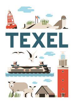 Als kunstposter koop op: https://www.catch-online.nl/kunstenaars/jochem-coenen #Texel #poster #Holland