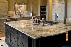 Types Of Kitchen Countertops Quartz - Kitchen Amazing Cost Of Kitchen Countertops, Granite Countertops Colors, Granite Kitchen, Kitchen Island, Kitchen Backsplash, Modern Countertops, Countertop Options, Custom Countertops, Kitchens