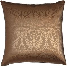 Continental Parisian Pillow ($90) ❤ liked on Polyvore featuring home, home decor, throw pillows, metallic brown, brown accent pillows, parisian home decor, brown throw pillows, handmade home decor and paris throw pillows