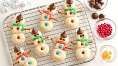 Candy-Kissed Snowman Cookies