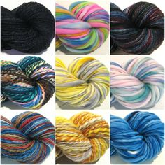 Lots of new Memorial Day Weekend yarns to round out the HUGE inventory in my shop!  Almost 200 colors, textures and styles to choose from... or work with me to create your own special custom yarn!