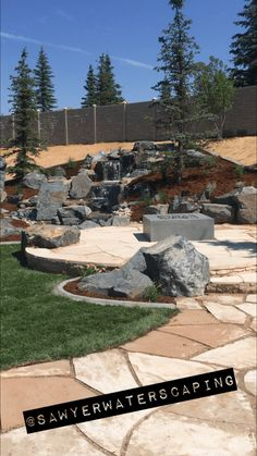 Bringing Nature Home Backyard Water Feature, Ponds Backyard, Backyard Landscaping, Backyard Ideas, Rock Retaining Wall, Natural Waterfalls, Outdoor Projects, Outdoor Decor, Dry Creek