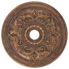 "Specialty Items-Ceiling Medallions ~ Crackled Greek Bronze ~ 22.5"" ~ call for price"