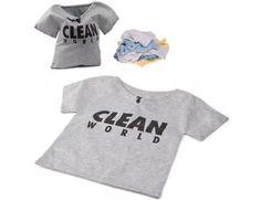 Imperdível! Saco para roupa suja Camiseta Clean World no LoopDay.