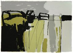 Rosemary Vanns. Farm at the top of the Hill. Screenprint, 31 x 41 cm.