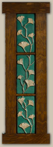 Display idea - Weaver Tile - Ginkgo Leaves - Horton, Michigan