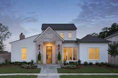 residential design and architecture in Lafayette Louisiana and all of Louisiana and the South New House Plans, Small House Plans, Casas The Sims 4, Modern Farmhouse Exterior, Cottage Style Homes, Exterior Design, Future House, Building A House, New Homes