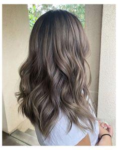 Ash Brown Hair Balayage, Ash Brown Hair With Highlights, Dark Ash Blonde Hair, Hair Color Balayage, Hair Highlights, Balayage Brunette, Brunette Hair, Ombre Hair, Bayalage