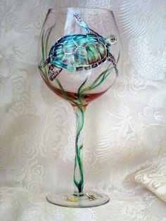Sea turtle wine glass. Must have!