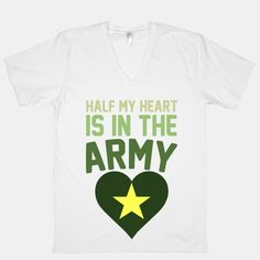 """I would love this shirt! Maybe if """"heart"""" was in pink though! Future Girlfriend, Military Girlfriend, Military Love, Combat Medic, Army Shirts, Army Life, Army Couples, Tank Man, Romantic"""